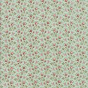 Moda - Porcelain - 3 Sisters - 6339 - Rosebuds Ditsy Floral on Duckegg - 44195 14 - Cotton Fabric